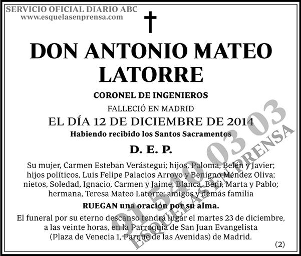 Antonio Mateo Latorre